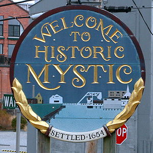 Mystic CT Sign